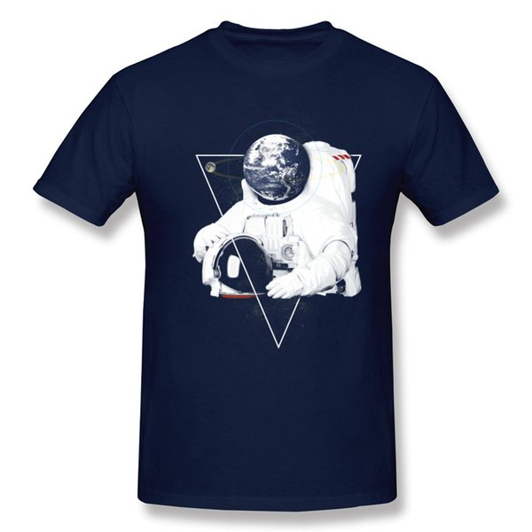 Aviation astronaut men tees shirts navy blue cotton tshirts for man fantastic man cool design clothing pure cotton tee Mr. Earth