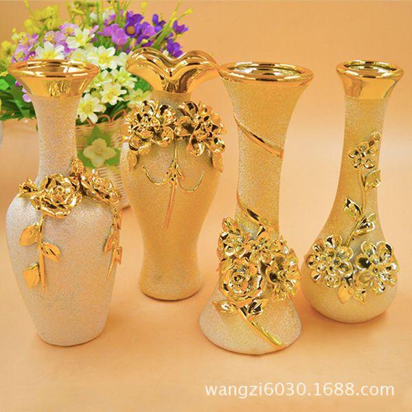 home goods decorative vases.htm 4 optional gold bronzing european carved vase characteristics  gold bronzing european carved vase