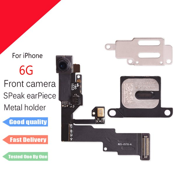 For iPhone 6 Front camera lex with Proximity Sensor + earpiece speaker with Metal bracket free shipping
