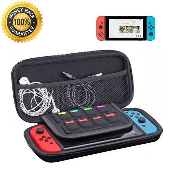 Deluxe Carrying Case Hard Protective Travel Storage Bag for NS Switch Game Card Jon Con Controller Protective EVA Hard Carry Bag Shockproof