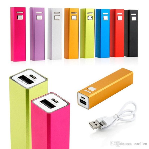 High Quality! HOT Cheap Power Bank Portable 2600mAh Cylinder PowerBank External Backup Battery Charger Emergency Free shipping+GIFT