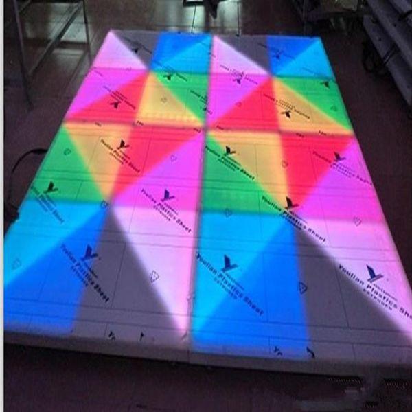 Spedizione gratuita Avenue of Stars LED Floor Brick Fase Pavimento Wedding Floor Tile T-Bar Bar Sound Control Floor Tile 720 F10 Lampada Bead con Sq