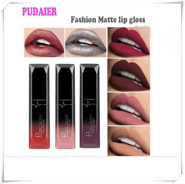 best selling HOT NEW PUDAIER 21 colors MATTE lip gloss LIPSTICK Makeup Waterproof Beautiful Cosmetics DHL free shipping
