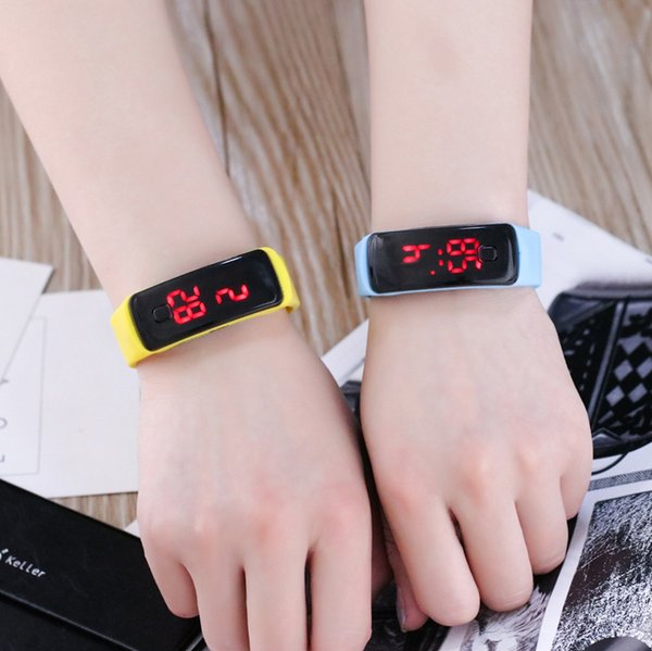 Art student sports bracelet, fashion smart silicone watch wholesale, two generation touch sunglasses, LED electronic watches