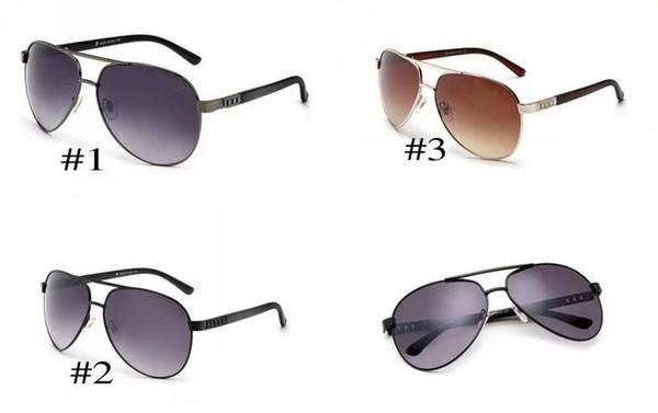 DHL 2017 nuovo stile retrò occhiali da sole in metallo telaio uomini e donne
