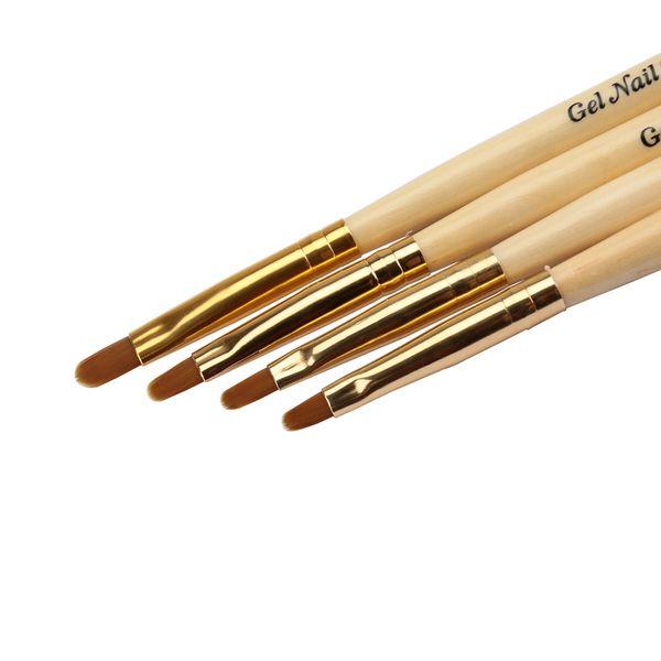 All'ingrosso- BQAN Gel Nail pittura UV Pennello rotondo Manico in legno Scultura Disegno Nail art Design Penna Pinceis Nail Manicure Tool