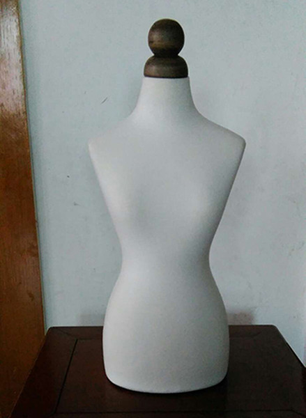 Freeshipping! New EMALE manequim busto,Half Size Dress Form 1/2bust mannequin1:2 clothing half to cut the villain,without botton wood M00020