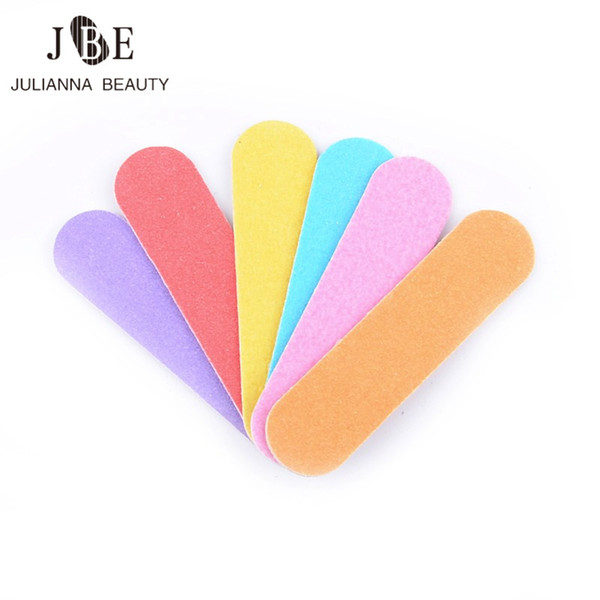 Wholesale- 3*100Pcs/Lot Mini Nail Files Block Buffer For Manicure UV Gel Wooden Nail Polish Files Manicure Pedicure Buffers Tips Mix Color
