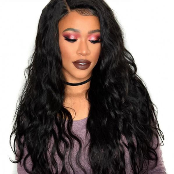 130% Densité de Cheveux Humains Full Lace Perruques pour les Femmes Noires Brésilienne Vague de Corps Avant de Lacet Perruques Pré Pincées Naturel Délié G-EASY
