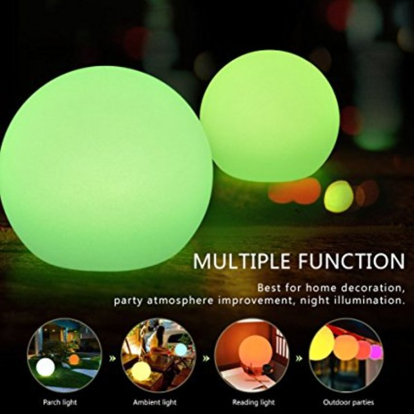 Rechargeable LED Ball Light, Bedroom Decorative Remote Control Lamp, Christmas Halloween Party Flash Strobe Lamp, RGB Color IP65 Waterproof