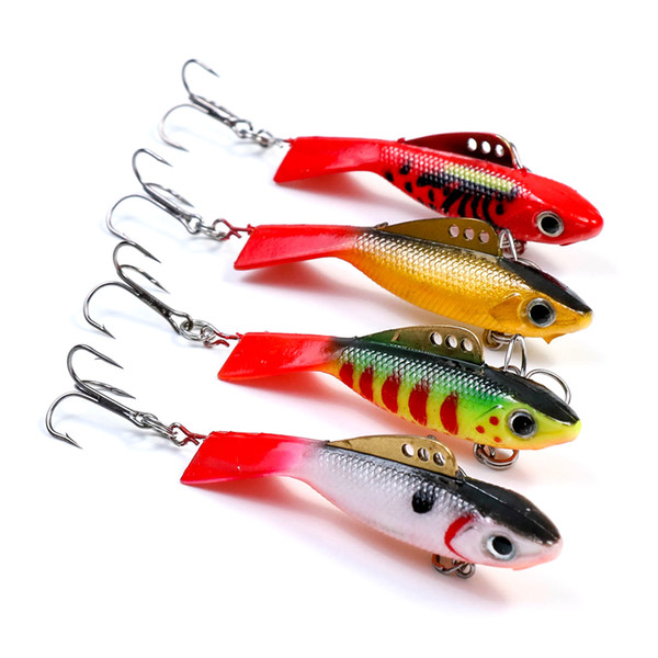 4pcs 57mm 12.2g Fishing Lure winter Ice Fishing Hard Bait Minnow Pesca Isca Artificial Bait Crankbait Swimbait Winter Fishing