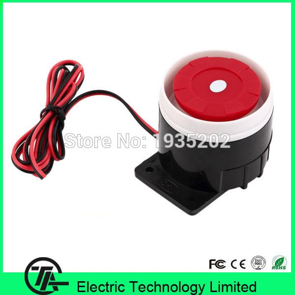 Wholesale- Plastic material XM-A01 wired alarm mini horn siren home security sound slarm system 120dB DC 12V