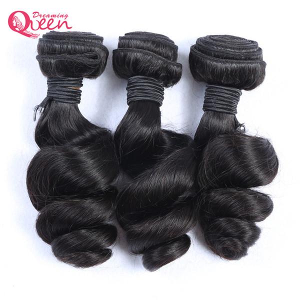 بيرو فضفاض موجة الشعر حزم 100٪ غير المجهزة البرازيلي العذراء الإنسان الشعر ينسج 3 قطع يمكن مصبوغ الشعر حزم شحن مجاني