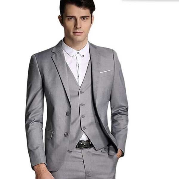 The latest men suits stylish groom suits tuxedos high quality men ...