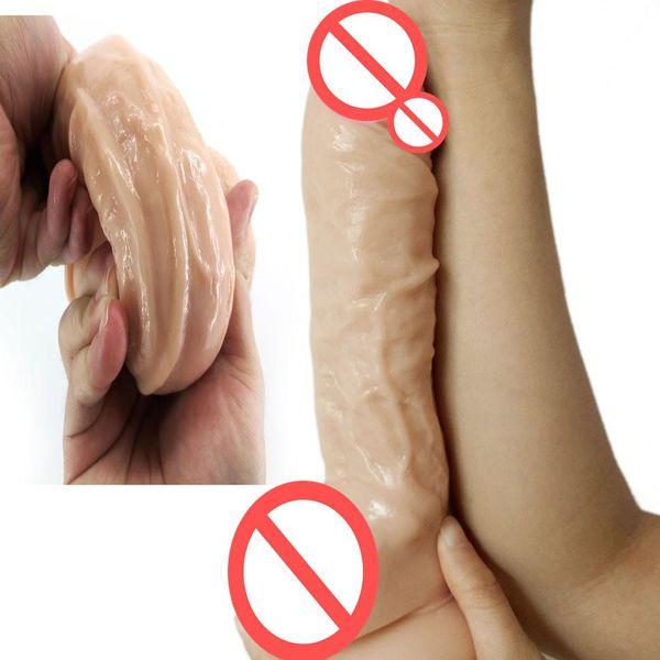Dildo Realistic Huge Penis Sex Toy for Woman Lesbian Big Dildo Suction Cup 23.5*5cm Erotic Masturbation Adult Sex Shop Product Q4