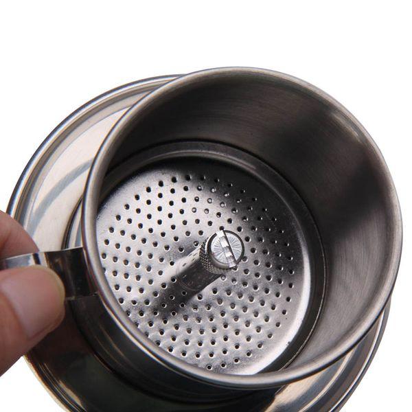 Vietnam Style Coffee Mug Cup Jug Stainless Steel Metal Vietnamese Coffee Drip Cup Filter Maker Strainer Cool Perfect