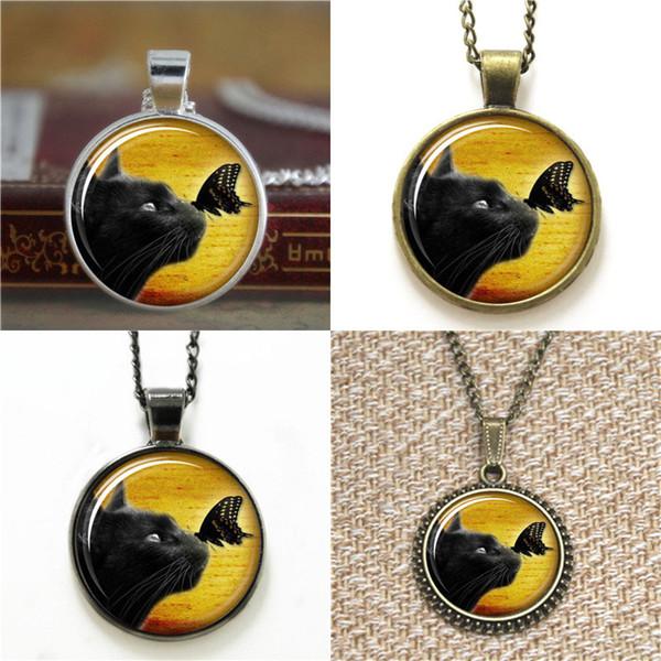 10pcs Cute Halloween Black Kitty ASD2 Jewelry Pendant Necklace keyring bookmark cufflink earring bracelet