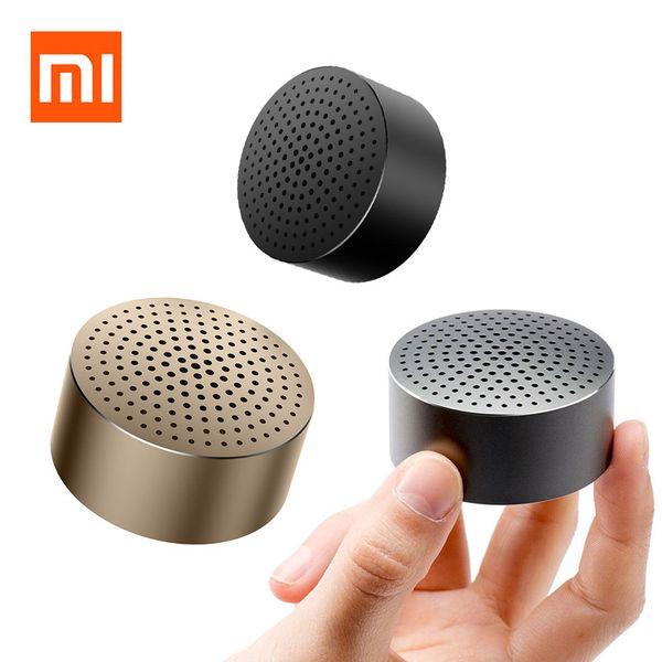 Vente en gros - Haut-parleur d'origine Xiaomi Mi Bluetooth 4.0 Mini sans fil Portable mains libres stéréo Musique boîte ronde Enceinte Ultra voiture haut-parleurs