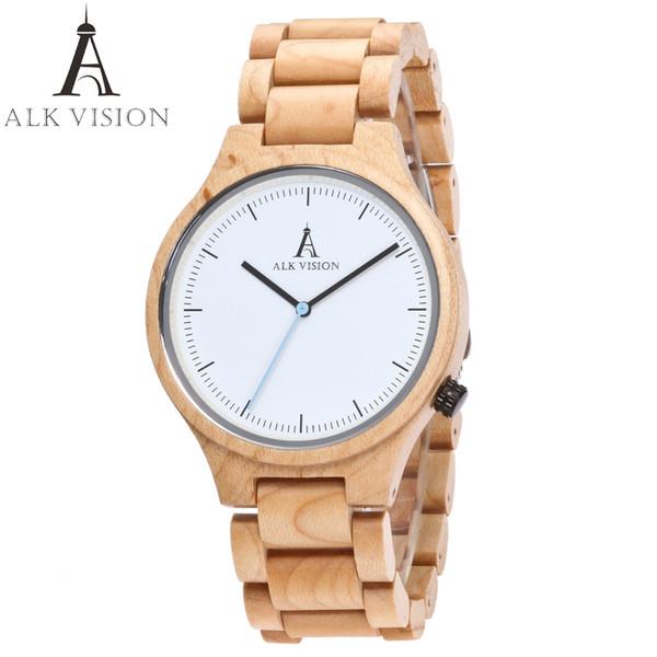 Großhandel 2017 ALK Vision Frauen Uhren Damen Paare Uhr Männer Uhren Top Brad Luxus Holz Uhr Mode Herren Armbanduhr Von Alkwatches, $30.36 Auf