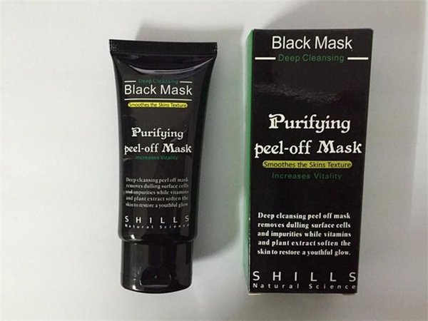 Black Suction Mask Anti-Aging 50ml SHILLS Deep Cleansing purifying peel off Black face mask Remove blackhead Peel Masks DHL free shipping