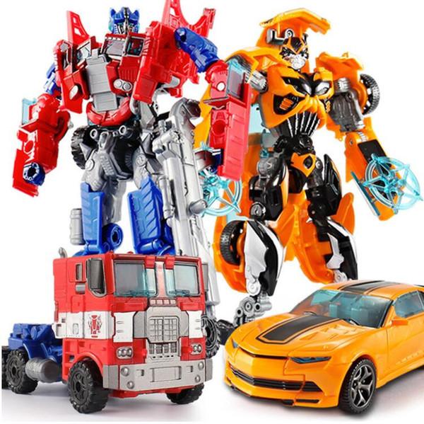 Venta superior 18.5 cm Recién Llegado de Big Classic Plastic Robot Cars Acción Figuras de Juguete Niños Educación Juguetes Regalos Al Por Mayor