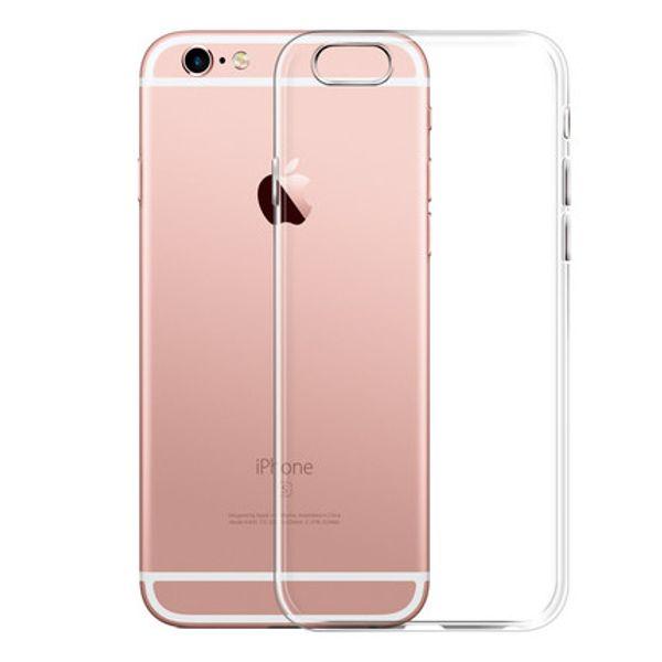 Ultra Thin Soft TPU Gel Funda Transparente Original Para iPhone 6 6 s 6 Plus 6 sPlus Crystal Clear Silicon Volver Funda Bolsos
