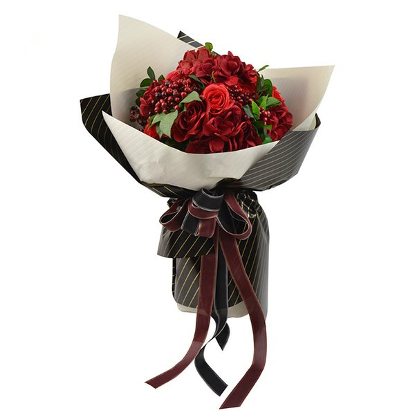 Acheter En Relief Couleur Pure Papier Collant Fleurs Obliques Dessin Animé Bouquet Emballage Cadeau Matériel De Papier Cadeau De Mariage Décoration