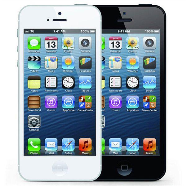 Refurbished Original Apple iPhone 5 16GB/32GB/64GB 4.0 inch Dual Core 1G RAM IOS8 3G 8MP 1080P Unlocked Mobile Smart Phone Free Post 1pcs
