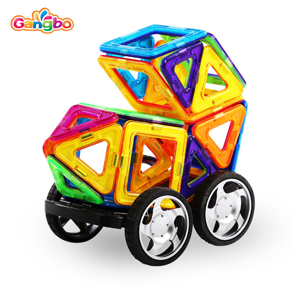 71 pcs Gangbo plastic mag wisdom wholesale toys building block magnetic for baby large toy plastic building blocks for kids
