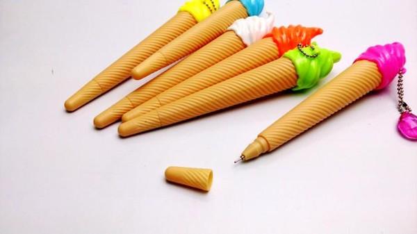 Frete grátis Coréia do Sul papelaria criativa ultra-realista ice cream cone sorvete gel caneta de tinta caneta bonito