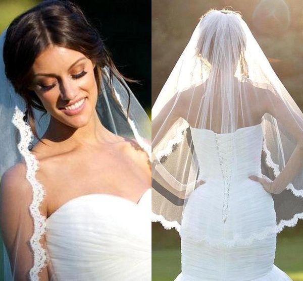 Banfvting 2017 Long Bridal Veil For Weddings 300 cm 200 cm With Lace Appliques