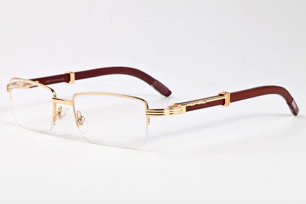 2017 occhiali da sole retrò senza montatura in legno Occhiali da sole Uomo Donna Designer di marca corno di bufalo occhiali Vintage Sunglass Oculos box