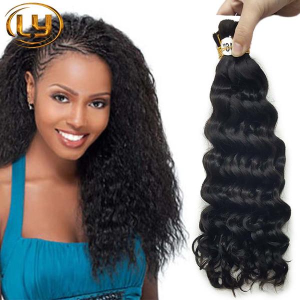7A Grade Micro mini Braiding Bulk Hair No Weft No Attachment Peruvian Deep Curly Hair 3pcs/Lot Human Brazilian Hair Extensions