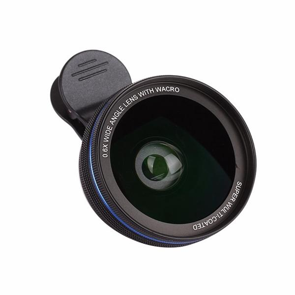 Metal 0.6X HD Lens Mobile Phone lens 0.6X Wide Angle Lens Cellphone Macro Optical Lenses for Iphone android smartphone