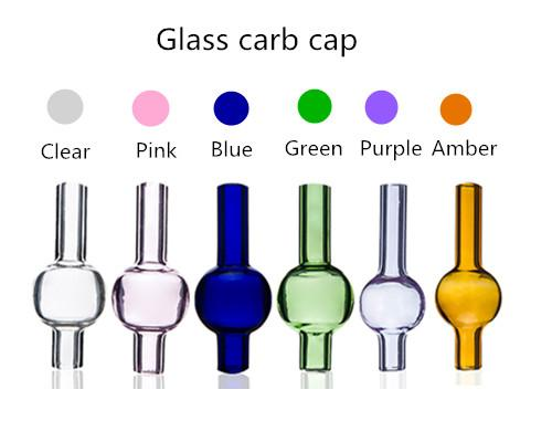 Universal Colored glass bubble carb cap round ball dome for XL thick Quartz thermal banger Nails glass water pipes, dab oil rigs Wholesale