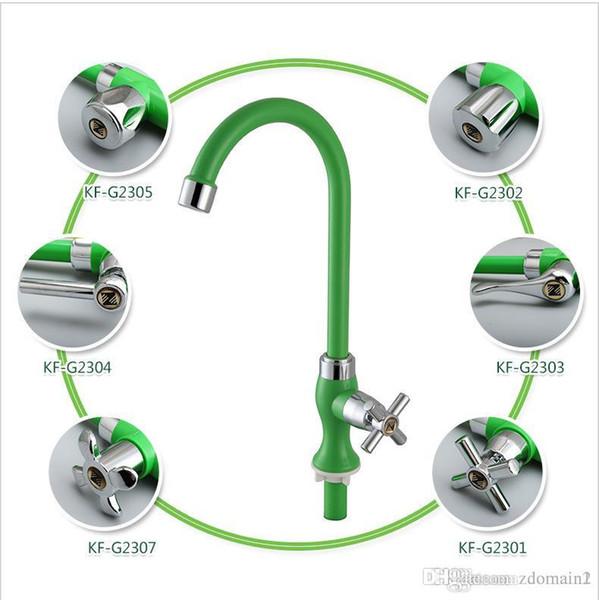 Robinet de cuisine en plastique ABS pour robinet d'eau froide et chaude Robinet d'évier Lavabo à légumes Robinet rotatif à 360 degrés