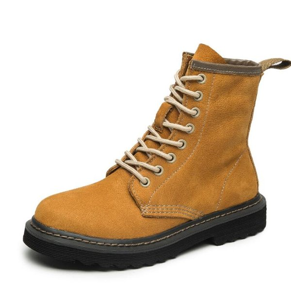 women's boots, women boots new fashion retro, cool autumn and winter boots cow leather Martin boots free shipping