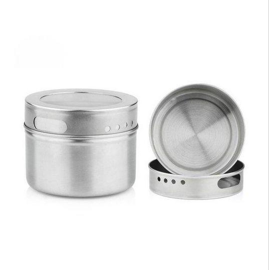 Wholesale- DHL Free shipping 50pcs/lot Magical magnetic Stainless steel spice jar monosexuality tank sauce pot seasoning bottle