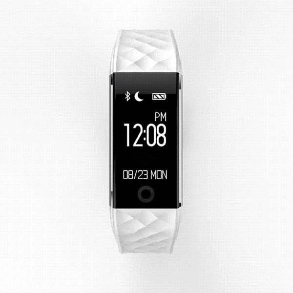 S2 Bluetooth Akıllı Bant Bileklik Kalp Hızı Monitörü IP67 Android IOS Telefon Pk Fitbits için Su Geçirmez Smartband Bilezik