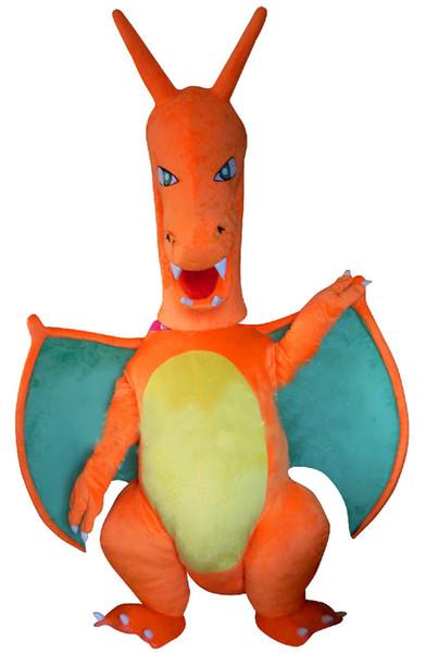 kundenspezifischer orange Pterodactyl Pterosauria pterosaurs Drache Dino-Maskottchenkostüm erwachsene Größen-Qualitätskarneval-Abendkleid 3471