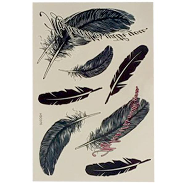 Großhandel-New Fashion Black Tattoo Qualität wasserdicht Tattoo Aufkleber Großhandel Diy Großhandel Feather Tattoo