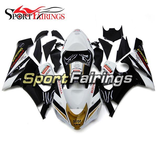Lustre completo Negro Oro blanco Nuevos carenados de inyección para Kawasaki Ninja 636 ZX-6R ZX6R 05 06 2005 - 2006 Carrocería de moto Sportbike ABS