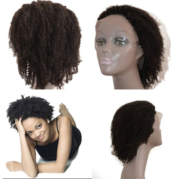 Afro Kinky Curly Lace Front Human Hair Wigs for Black Women Brazilian Glueless Full Lace Wigs with Natural Hairline FDSHINE HAIR
