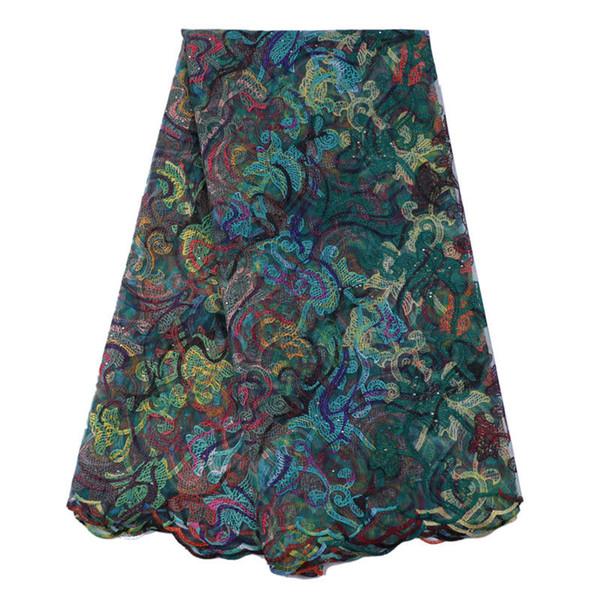 Best seller suizo cordones de tela de encaje africano de color oro tela nigeriana francés 2017 de alta calidad de tela de encaje africano tul GYNL147