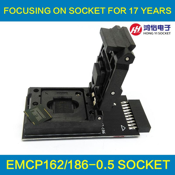 2017 Emmc Test Socket To 20pin Universal Port For Nand Flash Testing For  Bga 162/186 Reader Size 11 5x13mm For Data Recovery From Hydz2016, $148 75  |