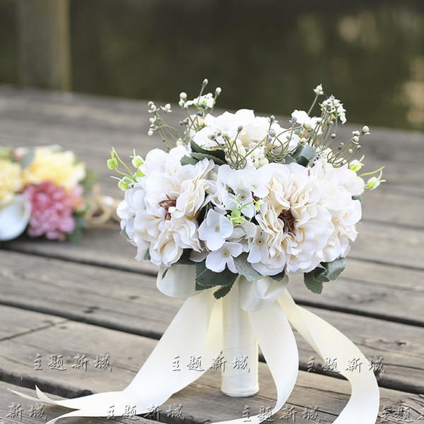 Nomi Fiori Bianchi Matrimonio.Acquista Matrimonio Bouquet Da Sposa Fiori Bianchi Bouquet Da