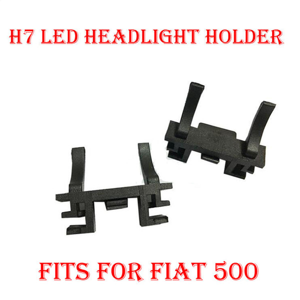 top popular 2PCS H7 LED Headlight Conversion Kit Bulb Base Holder Adapter Retainer Socket Clip For Fiat 500 Ford Focus 2017 Low Beam Land Rover Discover 2021