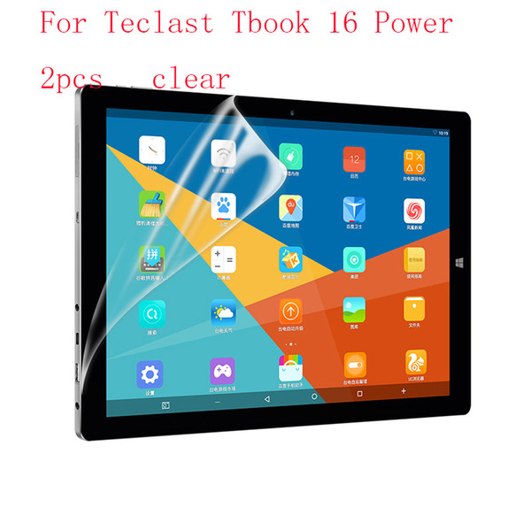 Wholesale- Transparent Ultra Thin Anti-scratch Protective Film Guard Screen Protector For Teclast Tbook 16 power 2pcs in 1 package