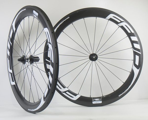 Envío gratis 60 mm de profundidad 25 mm ancho rueda de carbono bicicleta de carretera clincher / ruedas tubulares de carbono con ejes DT350
