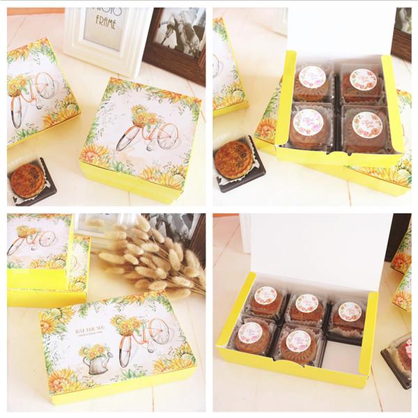 Желтый велосипед печенье пакет коробка торт коробка партия подарочная упаковка выступает за поставку, ручной работы пищевой пакет, свадьба питания